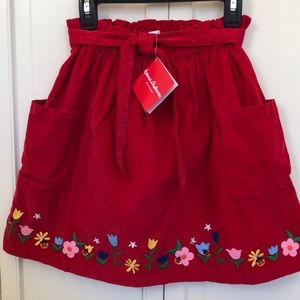 Hanna Andersson-Red Corduroy Skirt-Size 140-NWT